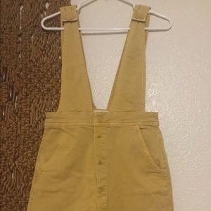 Free People mustard overalls